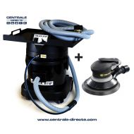 Centrale aspirante Black Jet + ponceuse orbitale pneumatique Rodcraft