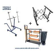 Pack tréteau et support ateliers carrosserie