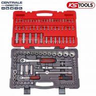 """Coffret de douilles et accessoires Ks Tools Ultimate 1/4"""" - 1/2"""" 111 pièces"""