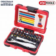 Coffret d'embouts de vissage à code couleur TORSIONpower KS TOOLS 918.3010