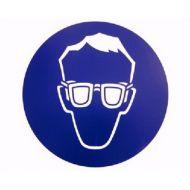 Pictogrammes 200 mm PVC, lunettes obligatoires