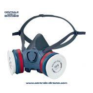 Demi-masque respiratoire réutilisable à cartouches interchangeables EasyLock®