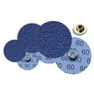 Mini disque fibre fixation métallique à changement rapide Zirconium Ø 75 grain 36 - x 25