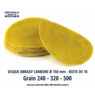 Disque abrasif carbone Ø 150 mm x 10 - DSC