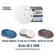 Disque abrasif velcro professionnel Ø 150 mm - DVPX