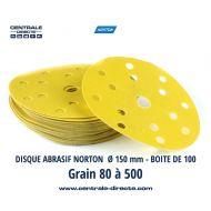 Disque abrasif  Selfgrip Norton Grain 80 au 500 - DVA