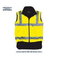 Gilet polaire haute visibilité - jaune fluo