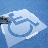 Pochoir marquage handicapé
