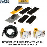 Kit 2 cales aspirantes et tuyau Mirka - abrasif Abranet inclus