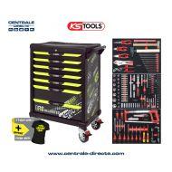 Servante d'atelier KS TOOLS - One By One édition limitée fluo - 7 Tiroirs avec 251 outils