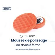 Mousse de polissage alvéolée - ferme - Ø 150mm