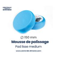 Mousse de polissage lisse - medium - Ø 80mm