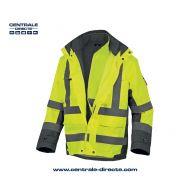 Veste parka de travail 4 en 1 haute visibilité TARMAC - jaune fluo
