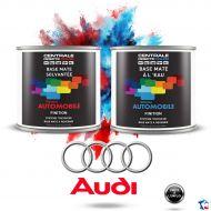 Peinture Audi base mate tricouche à vernir