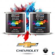Peinture Chevrolet base mate tricouche à vernir