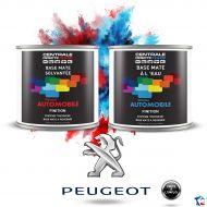 Peinture Peugeot base mate tricouche à vernir