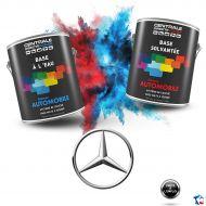 Peinture Mercedes base mate à vernir