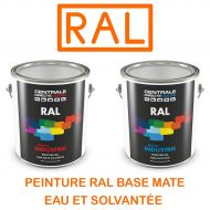 Peinture RAL base mate à vernir - Eau ou solvantée