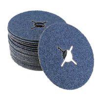 Disque abrasif sur fibre grain 24 Zirconium diamètre 125mm - x25 DFRA24