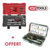 Coffret douilles Ks Tools avec coffret d'embouts de vissage offert KS922.0667A1