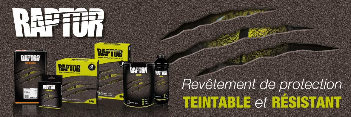 Raptor revetement protection teintable