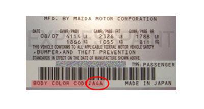Trouver Le Code Peinture Mazda