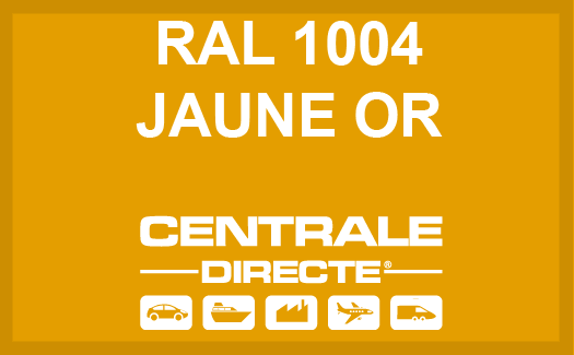 Couleur RAL 1004 Jaune or