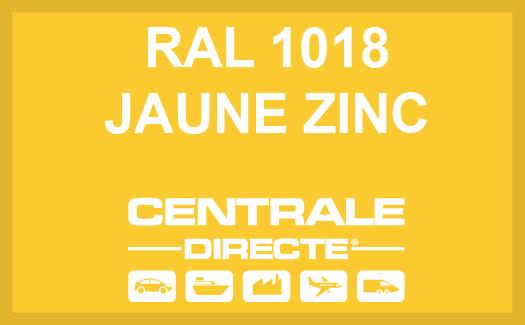 Couleur RAL 1018 Jaune zinc