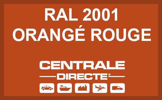 Couleur RAL 2001 Orangé rouge