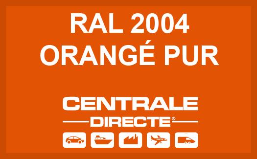 Couleur RAL 2004 Orangé pur