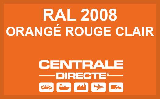Couleur RAL 2008 Orangé rouge clair