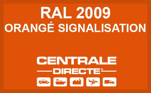 Couleur RAL 2009 Orangé signalisation