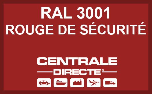 Couleur RAL 3001 Rouge de sécurité