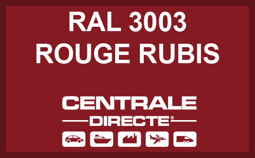 Couleur RAL 3003 Rouge rubis