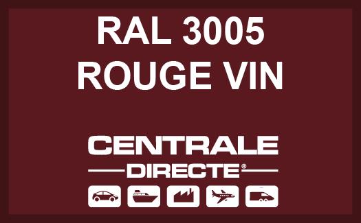 Couleur RAL 3005 Rouge vin