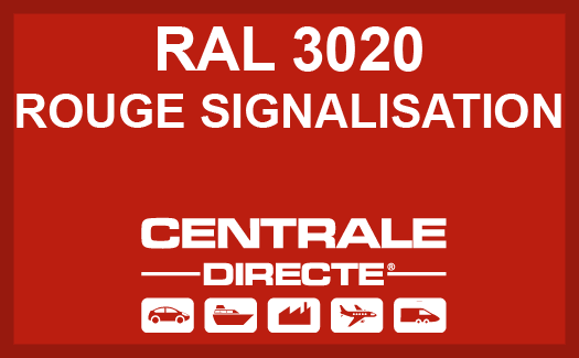 Couleur RAL 3020 Rouge signalisation