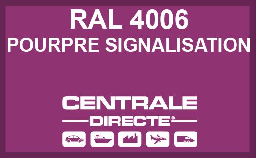 Couleur RAL 4006 Pourpre signalisation