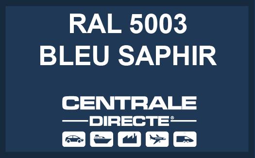 Couleur RAL 5003 Bleu saphir