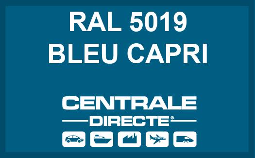 Couleur RAL 5019 Bleu capri