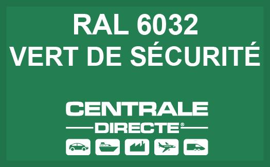 Couleur RAL 6032 Vert de sécurité