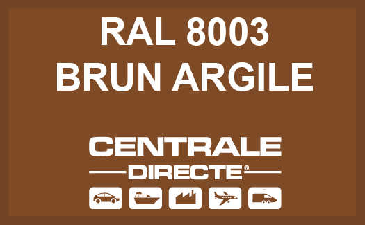 Couleur RAL 8003 Brun argile