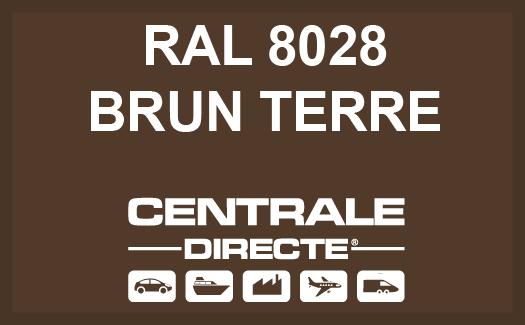 Couleur RAL 8028 Brun terre