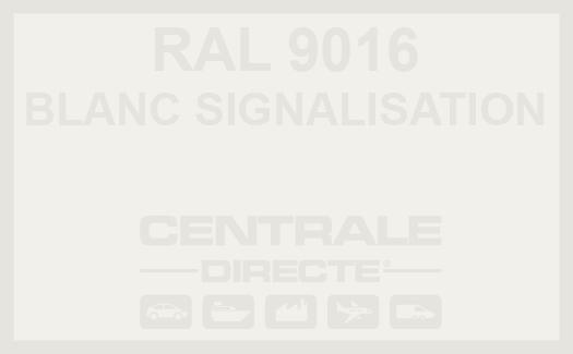 Couleur RAL 9016 Blanc signalisation