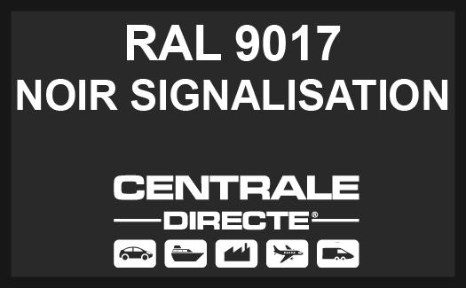 Couleur RAL 9017 Noir signalisation
